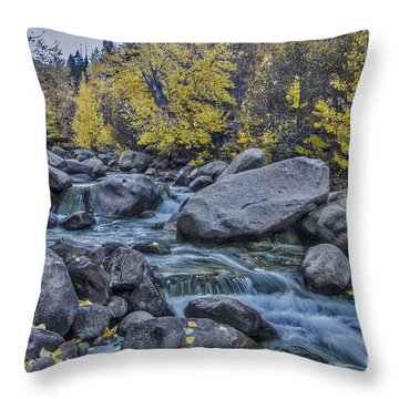 Throw Pillow featuring the photograph Green River by Mitch Shindelbower
