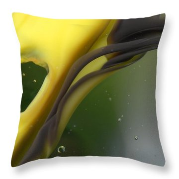 Green Sea Throw Pillow