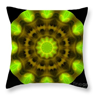 Green Serenity Throw Pillow by Hanza Turgul