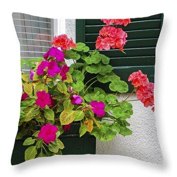 Begonias Throw Pillows