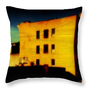 Throw Pillow featuring the photograph Green Sky by Miriam Danar