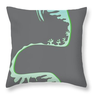 Green Spiral Evolution Throw Pillow