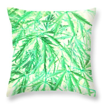 Throw Pillow featuring the photograph Green Splender by Jamie Lynn