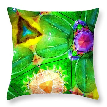 Green Thing 2 Abstract Throw Pillow