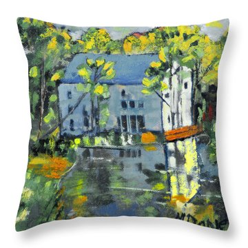 Green Township Mill House Throw Pillow