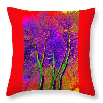 Throw Pillow featuring the photograph Green Trees by Jodie Marie Anne Richardson Traugott          aka jm-ART