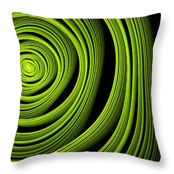 Throw Pillow featuring the digital art Green Wellness by Gabiw Art