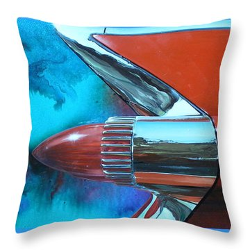 Throw Pillow featuring the painting Green With Envy by Alan Johnson