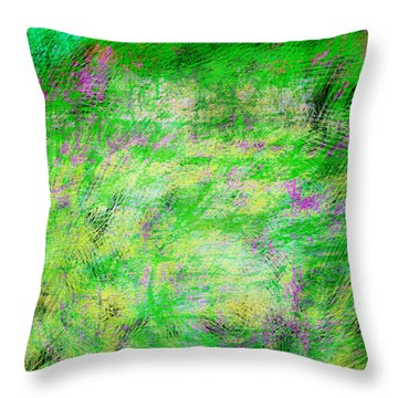 Green With Envy Series II Throw Pillow by Marianne Campolongo
