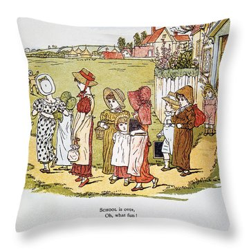 Greenaway: Illustration Throw Pillow by Granger