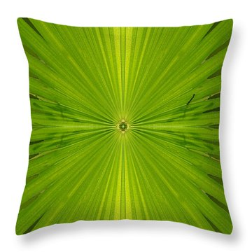 Greenburst Throw Pillow