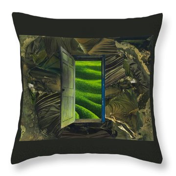 Greener Pastures Throw Pillow by Denise Mazzocco