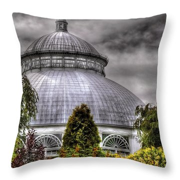 Greenhouse - The Observatory Throw Pillow by Mike Savad