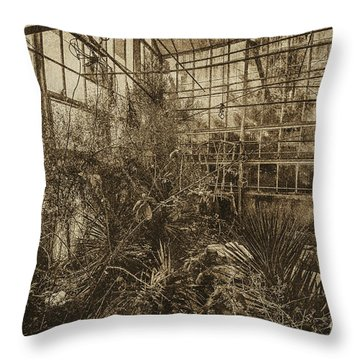 Greenhouse Three Throw Pillow