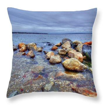 Throw Pillow featuring the photograph Greenwich Bay by Alex Grichenko