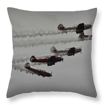 Greenwood Lake Airshow Northeast Raiders Throw Pillow