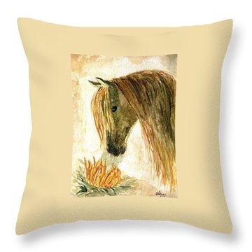Greeting A Sunflower Throw Pillow