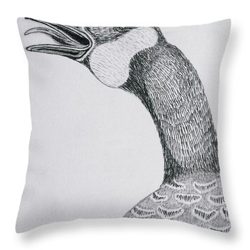 Greeting Goose 1 Detail From Canadian Greetings Throw Pillow