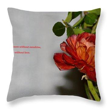 Greeting Of Love Throw Pillow by Sonali Gangane