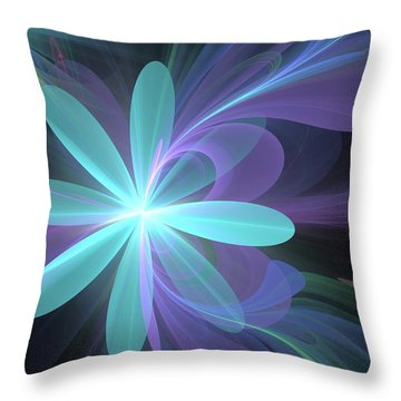 Throw Pillow featuring the digital art Greetings From Ethereal Realms by Svetlana Nikolova