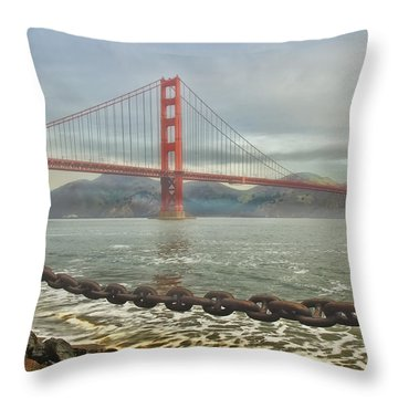 Greetings From San Franciosco Throw Pillow