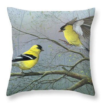 Greetings My Friend Throw Pillow