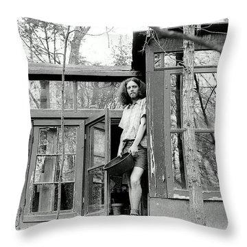 Greg's Solar Home 1979 Throw Pillow by Ed Weidman