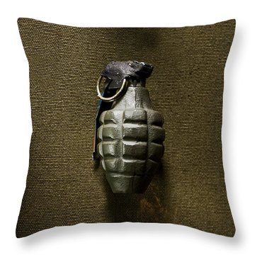 Grenade Throw Pillow by Margie Hurwich