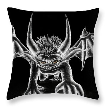 Throw Pillow featuring the painting Grevil Chalk by Shawn Dall