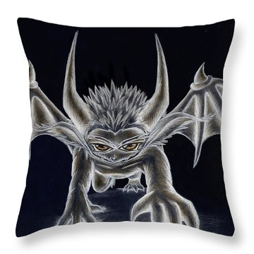 Throw Pillow featuring the painting Grevil Inverted by Shawn Dall