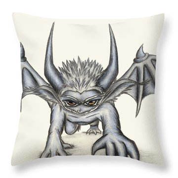 Throw Pillow featuring the painting Grevil by Shawn Dall