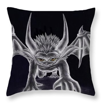 Throw Pillow featuring the painting Grevil Silvered by Shawn Dall