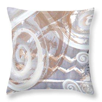 Grey Abstraction 2 Throw Pillow by Eva-Maria Becker