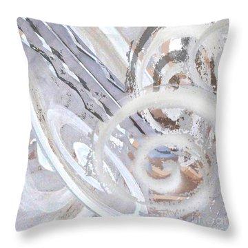 Grey Abstraction 3 Throw Pillow by Eva-Maria Becker
