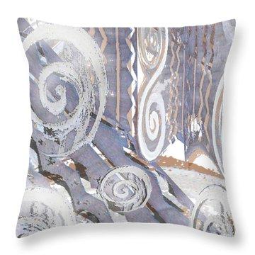 Grey Abstraction 4 Throw Pillow by Eva-Maria Becker