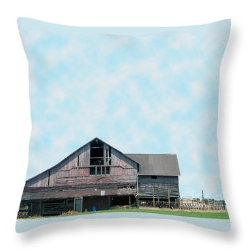 Throw Pillow featuring the photograph Grey Barn by Gena Weiser