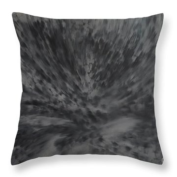 Throw Pillow featuring the painting Grey Emotions In Motion by Stuart Engel