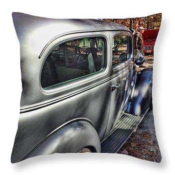 Grey Ghost Throw Pillow