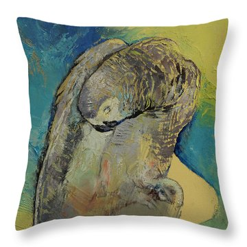 Grey Parrot Throw Pillow