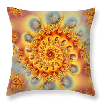 Grey Pearls Throw Pillow by Sylvia Thornton