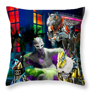 Greyhound Princesse Throw Pillow