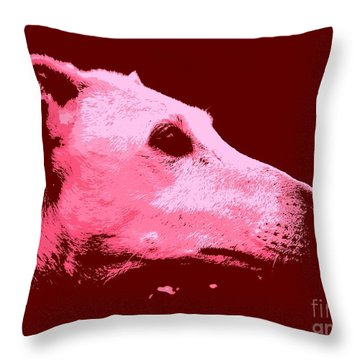 Throw Pillow featuring the photograph Greyhound Profile by Clare Bevan