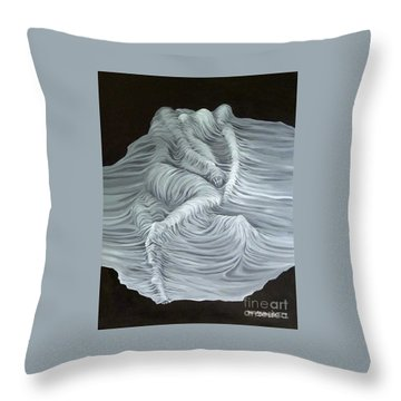 Greyish Revelation Throw Pillow