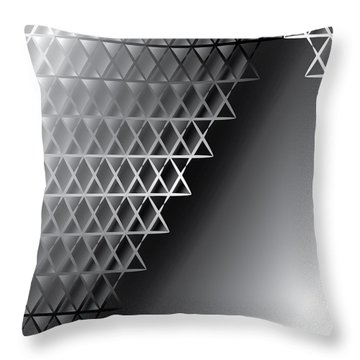 Grid 60 Float Throw Pillow