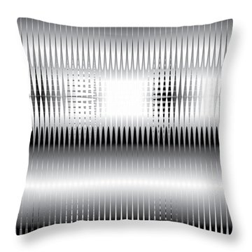 Throw Pillow featuring the digital art Grid Trap 2 by Kevin McLaughlin