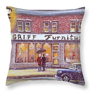 Griff Valentines' Birthday Throw Pillow