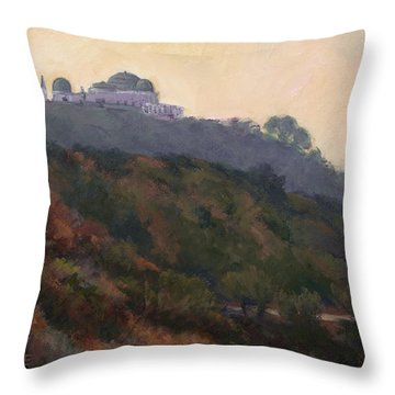 Griffith Park Observatory- Late Morning Throw Pillow