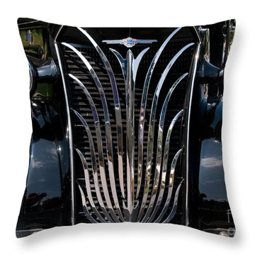 Grill And Headlights Throw Pillow by Vivian Christopher