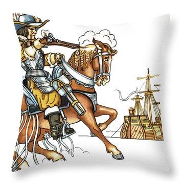 Grimm: Faithful John Throw Pillow by Granger