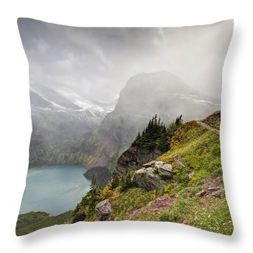 Grinnell Glacier Trail Throw Pillow